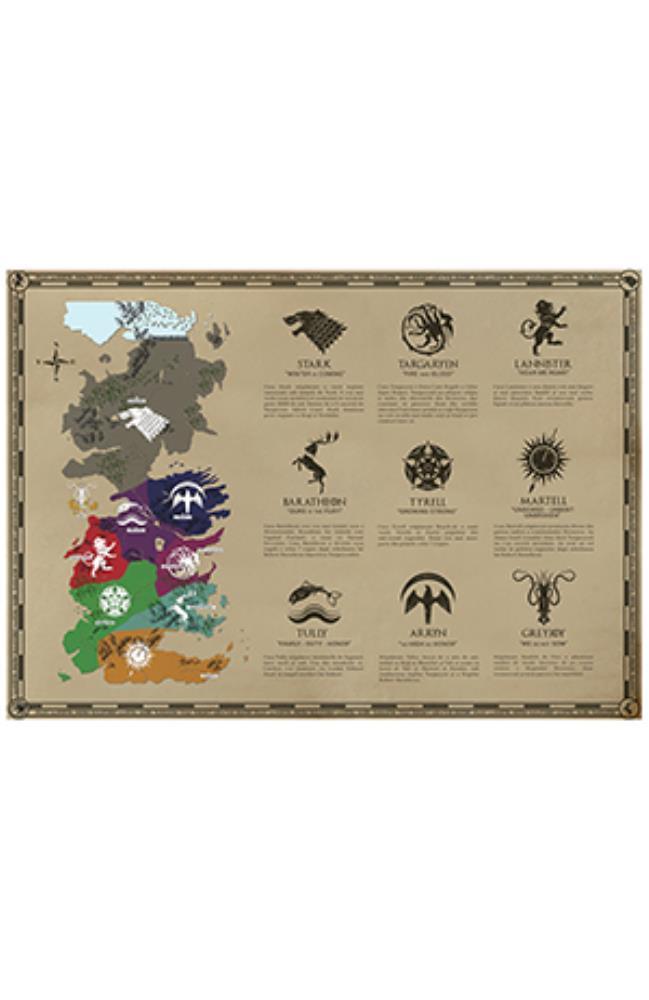 Harta Game of Thrones